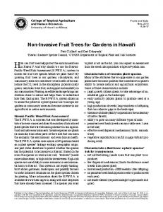 How can fruit trees help protect the environment here