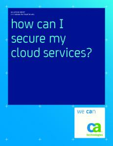 how can I secure my cloud services?