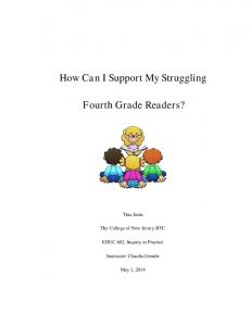 How Can I Support My Struggling. Fourth Grade Readers?