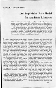 How CAN LIBRARIANS QUANTIFY the acquisition