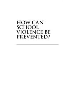 how can school violence be prevented?