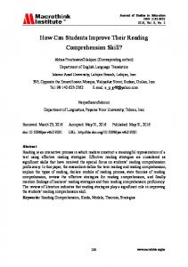 How Can Students Improve Their Reading Comprehension Skill?