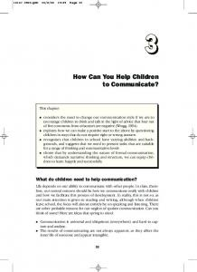 How Can You Help Children to Communicate?