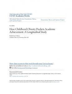 How Childhood Obesity Predicts Academic Achievement: A Longitudinal Study