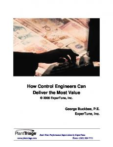 How Control Engineers Can Deliver the Most Value