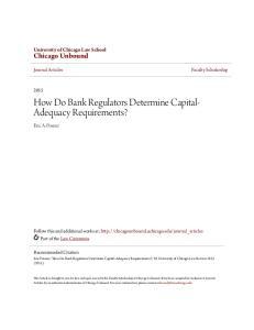How Do Bank Regulators Determine Capital- Adequacy Requirements?