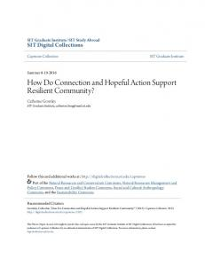 How Do Connection and Hopeful Action Support Resilient Community?