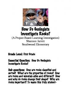 How Do Geologists Investigate Rocks?