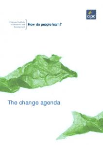 How do people learn? The change agenda