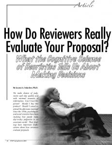 How Do Reviewers Really Evaluate Your Proposal?