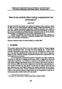 How do test methods affect reading comprehension test performance?