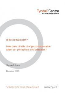 How does climate change communication affect our perceptions and behaviour?