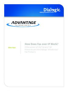 How Does Fax over IP Work?