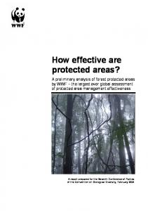 How effective are protected areas?