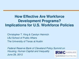 How Effective Are Workforce Development Programs? Implications for U.S. Workforce Policies