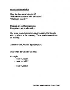 How far does a market extend? Which firms compete with each other? What is an industry?