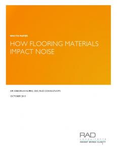 HOW FLOORING MATERIALS IMPACT NOISE