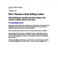 How I Became a Best-Selling Author