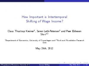 How Important is Intertemporal Shifting of Wage Income?