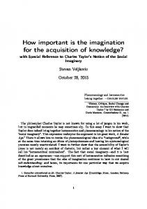 How important is the imagination for the acquisition of knowledge?