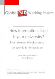 How internationalised is your university?