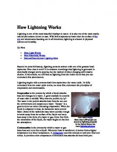 How Lightning Works. Up Next. How Light Works How Electricity Works ScienceChannel.com: Lighting Odds