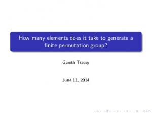 How many elements does it take to generate a finite permutation group?