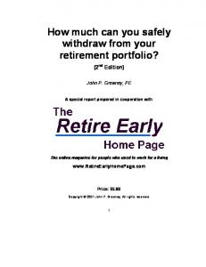 How much can you safely withdraw from your retirement portfolio?