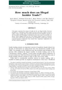 How much does an Illegal Insider Trade?*