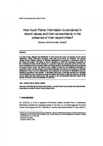 How much Fisher information is contained in record values and their concomitants in the presence of inter-record times?