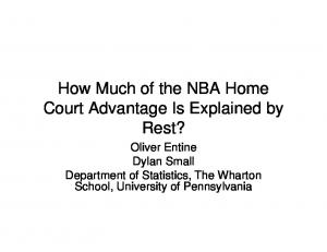 How Much of the NBA Home Court Advantage Is Explained by Rest?