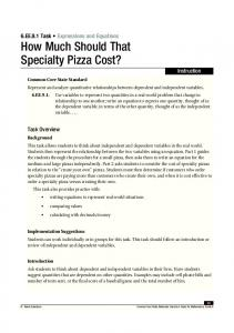 How Much Should That Specialty Pizza Cost?