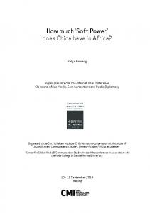 How much Soft Power does China have in Africa?