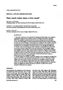 How much water does a river need?