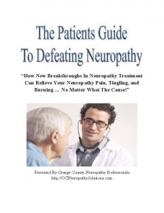 How New Breakthroughs In Neuropathy Treatment Can Relieve Your Neuropathy Pain, Tingling, and Burning No Matter What The Cause!
