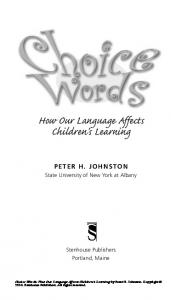 How Our Language Affects Children s Learning