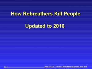 How Rebreathers Kill People. Updated to 2016