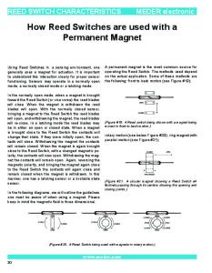 How Reed Switches are used with a Permanent Magnet