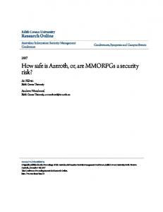 How safe is Azeroth, or, are MMORPGs a security risk?