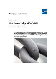 How Scrum helps with CMMI