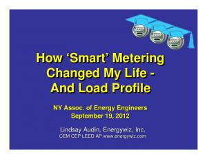 How Smart Metering Changed My Life - And Load Profile