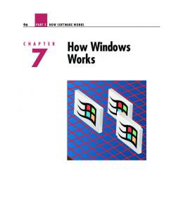 HOW SOFTWARE WORKS. How Windows Works