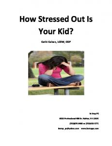 How Stressed Out Is Your Kid?