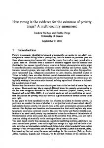 How strong is the evidence for the existence of poverty traps? A multi country assessment