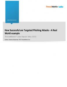 How Successful are Targeted Phishing Attacks - A Real World example