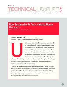 How Sustainable Is Your Historic House Museum?