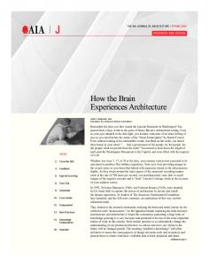 How the Brain Experiences Architecture