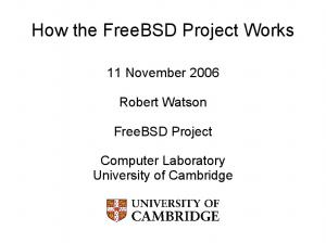 How the FreeBSD Project Works