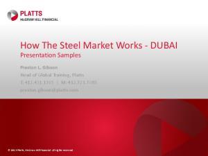 How The Steel Market Works - DUBAI
