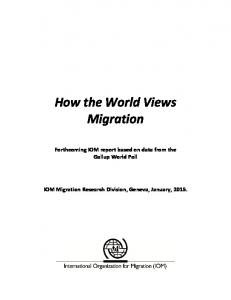 How the World Views Migration